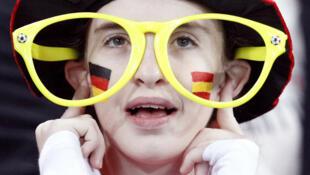 Torcedor alemão durante jogo na Copa da África do Sul.