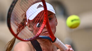 From Russia to Kazakhstan: Elena Rybakina in action against Russia's Elena Vesnina at the French Open