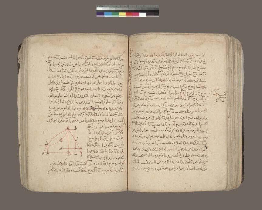 نسخۀ خطی مقاله فی الجبر والمقابله، اثر عمر خیام،  متعلق به قرن  هفتم هجری