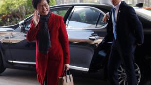 La nouvelle chef du gouvernement de Hong Kong, ce 27 mars à Hong Kong.