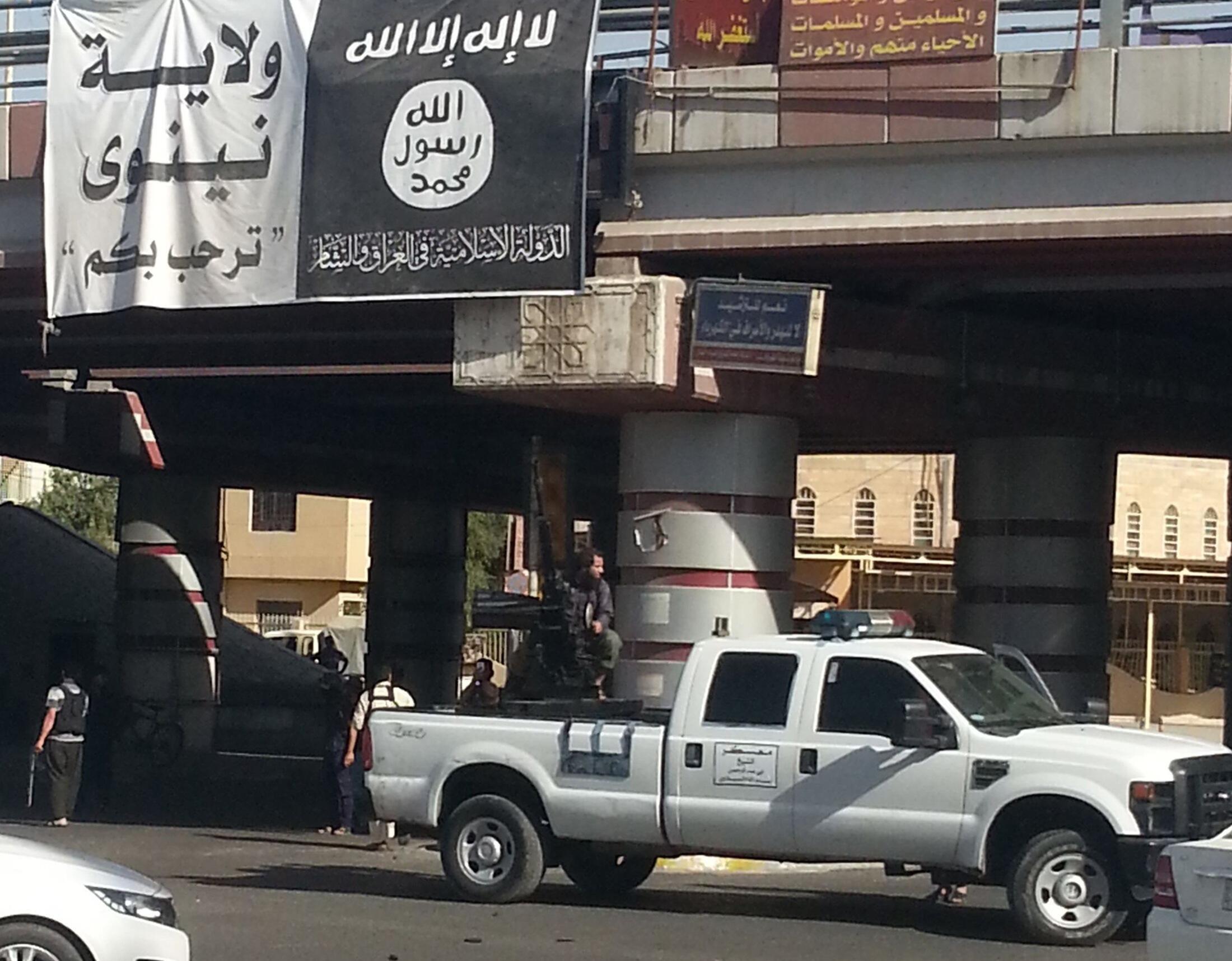 Lực lượng thánh chiến của Nhà nước Hồi giáo tại Mosoul. Ảnh ngày 16/07/2014.