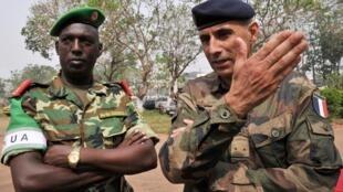 Le brigadier général du Burundi Athanase Kararuza, le 5 février 2014, à Bangui. Il était alors commandant en second de la Mission internationale pour le soutien en Centrafrique (MISCA).