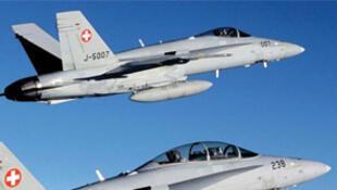 Des jets de l'armée de l'air suisse.
