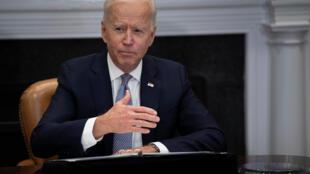 El presidente de Estados Unidos, Joe Biden, habló el lunes en una cumbre virtual con los principales jefes organizada por la Casa Blanca sobre la escasez de semiconductores.