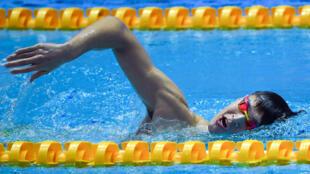El nadador chino Sun Yang, el 16 de julio de 2019 en Gwangju, Corea del Sur