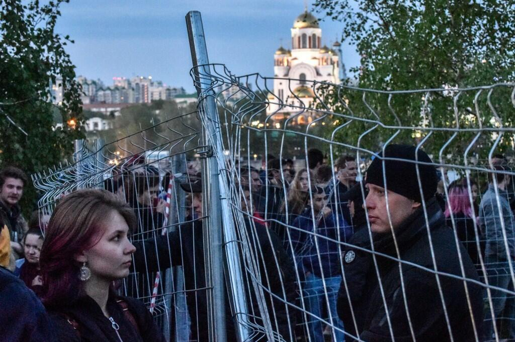 Манифестация в защиту сквера в центре Екатеринбурга, 14 мая 2019