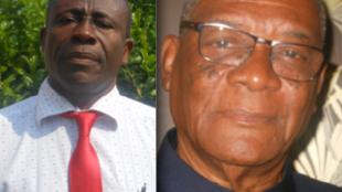 Candidatos às eleições presidenciais em São Tomé e Príncipe; Evaristo Carvalho (drt) e Manuel do Rosário (esq)