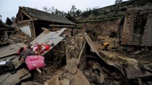 甘肃岷县地震灾区