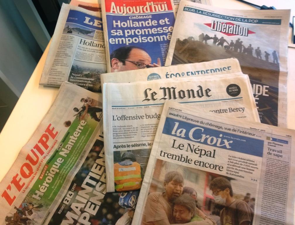 Diários franceses 27/04/2015