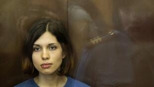 A Pussy Riot, Nadejda Tolokonnikova, que iniciou uma greve de fome neste 23 de setembro de 2013.