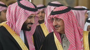 Crown Prince Mohammed bin Salman (L) unseated Mohammed bin Nayef (R) as heir to the Saudi throne in 2017