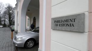 Façade du Parlement estonien.
