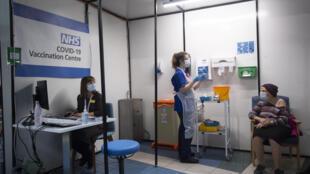 Un centre de vaccination contre le Covid-19 à Londres le 8 décembre 2020 (image d'illustration).