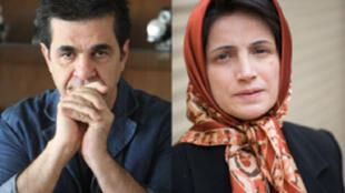 Jafar Panahi et Nasrin Sotoudeh, lauréats du Prix Sakharov 2012.