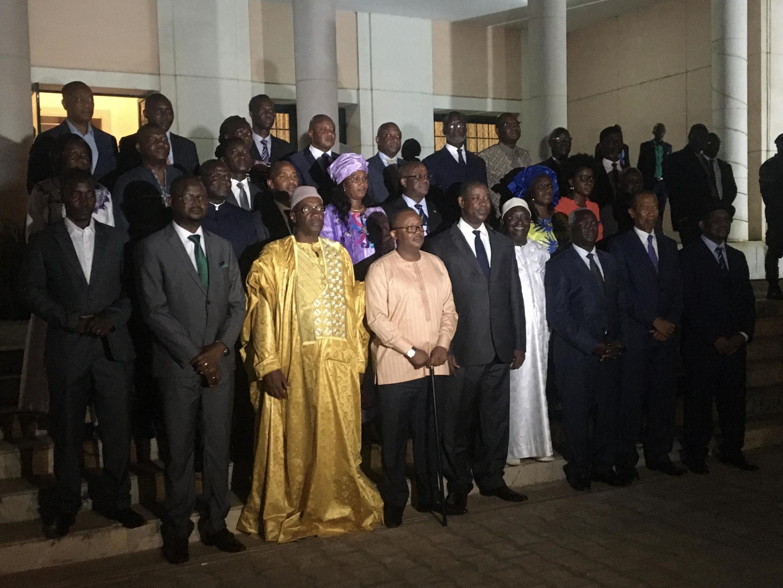 Sherehe ya kutawazwa kwa serikali ya Waziri Mkuu Nuno Nabian (aliyeteuliwa na Umaro Sissoco Embalo) kwenye Ikulu ya rais jioni ya Jumatatu, Machi 2, 2020.