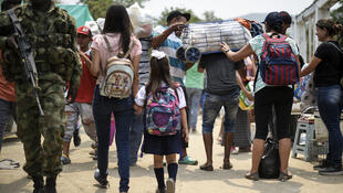 La situation est si critique au Venezuela que les écoles colombiennes acceptent désormais des élèves qui n'ont même pas la nationalité. Illustration: la frontière au niveau de Cucuta en mars 2019.