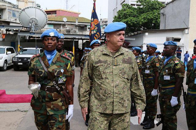 Kwenye makao Makuu ya MONUSCO, Kinshasa, DR Congo.
