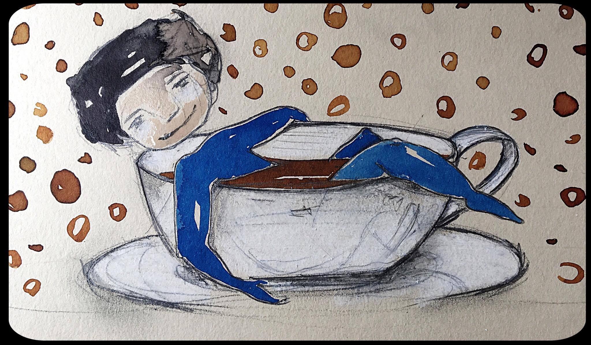 Dessin tiré de «Ecouter le monde au café».