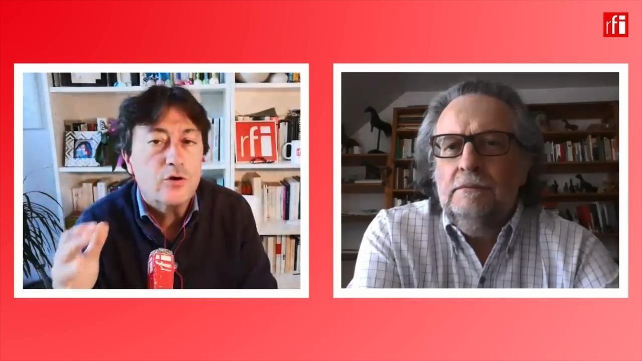 El periodista uruguayo Zelmar Michelini con Jordi Batallé