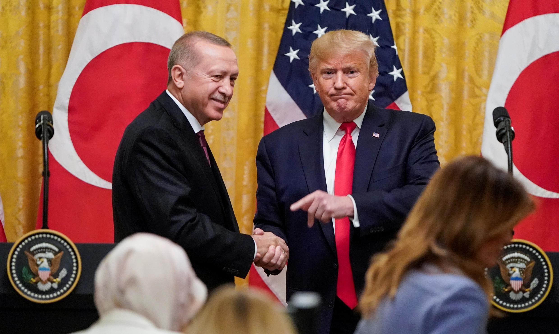 نشست خبری دونالد ترامپ و رجب طیب اردوغان در کاخ سفید
