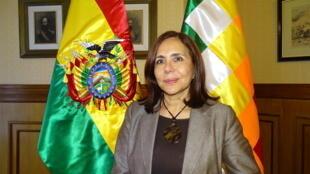 La ministra boliviana de Relaciones Extreriores Karen Longaric.