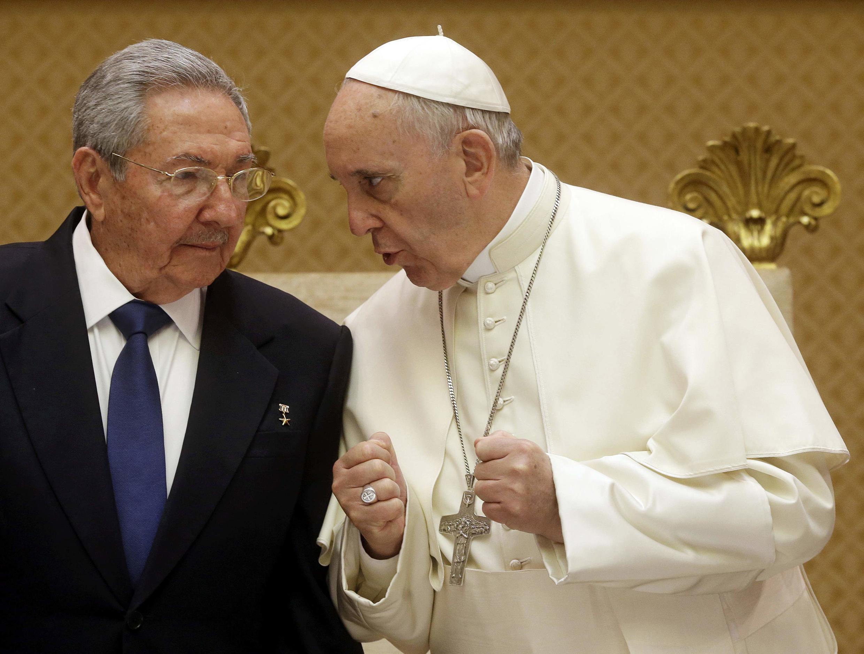 Lãnh đạo Cuba Raul Castro tại tòa thánh Vatican. Ảnh ngày 10/05/2015