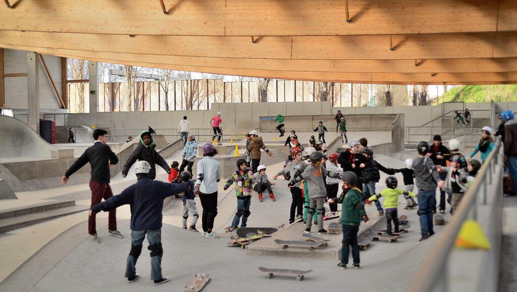 Skatepark da capital francesa.