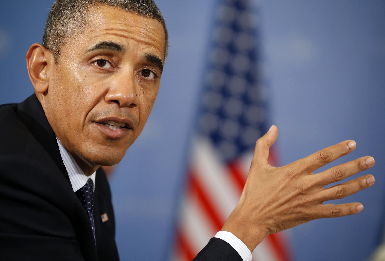Dans son allocution hebdomadaire du samedi à la radio, Barack Obama a lancé un appel aux membres du Congrès américain  pour qu'ils approuvent le principe d'une opération armée.