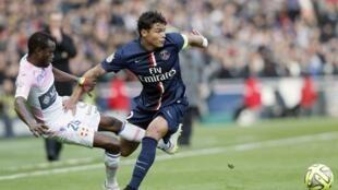 O jogador do Paris Saint-Germain, Thiago Silva.