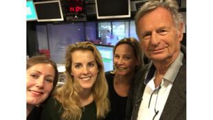 De g. à d. : la journaliste Anne Soetemondt, notre invitée Pauline Escande Gauquié, Florence Pons et notre invité Philippe Gutton.