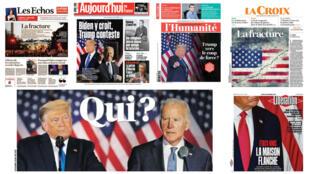 os jornais franceses analisam a estratégia do presidente americano, Donald Trump, que contesta desde ontem os resultados preliminares das eleições presidenciais nos Estados Unidos.