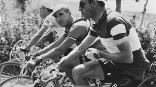 Gino Bartali en el Giro de Italia de 1953