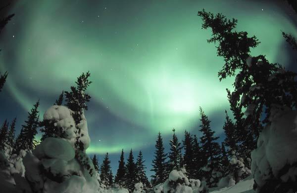 Las auroras boreales se pudieron admirar este año en enero en Europa y Asia.