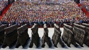 Diễu binh nhân kỷ niệm 70 kết thúc Đệ nhị Thế chiến tại Bắc Kinh, 03/09/2015.