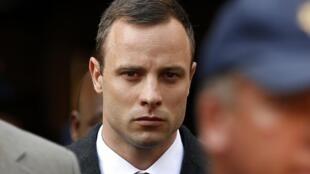 Oscar Pistorius durante o processo.