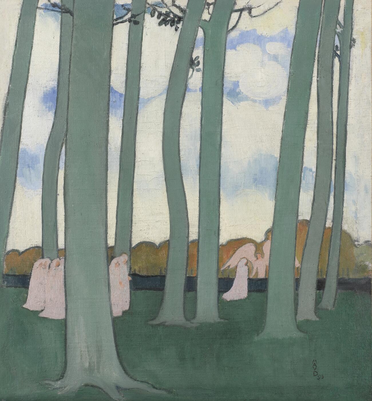 Морис Дени. Процессия под деревьями. 1893. Музей Орсе
