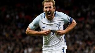 2018 World Cup Qualifications - Europe - England vs Slovenia - Wembley Stadium, London, Britain - October 5, 2017 England's Harry Kane celebrates scoring their first goal.