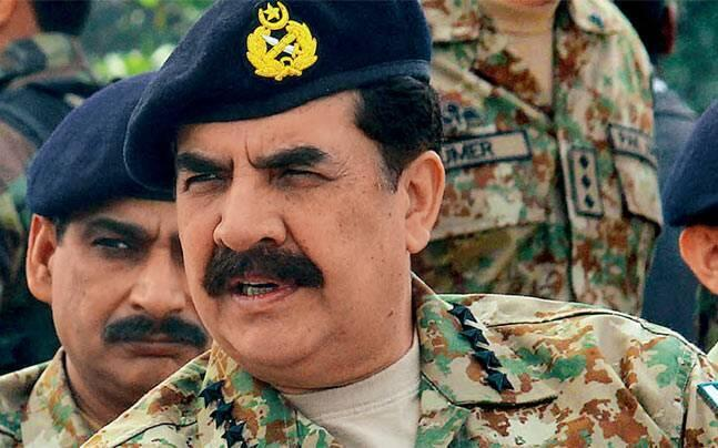 圖為巴基斯坦陸軍參謀長拉希勒•謝里夫上將