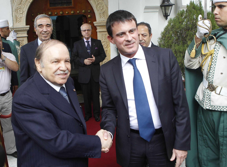 French Interior Minister Manuel Valls meets Algerian President Abdelaziz Bouteflika in October