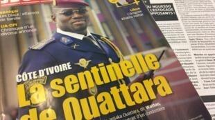 Primeiras páginas da Jeune Afrique e de La Lettre du Continent