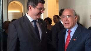 Em junho, Joaquim Levy já tinha se reunido com o secretário-geral da OCDE, Angel Gurría (foto de arquivo).
