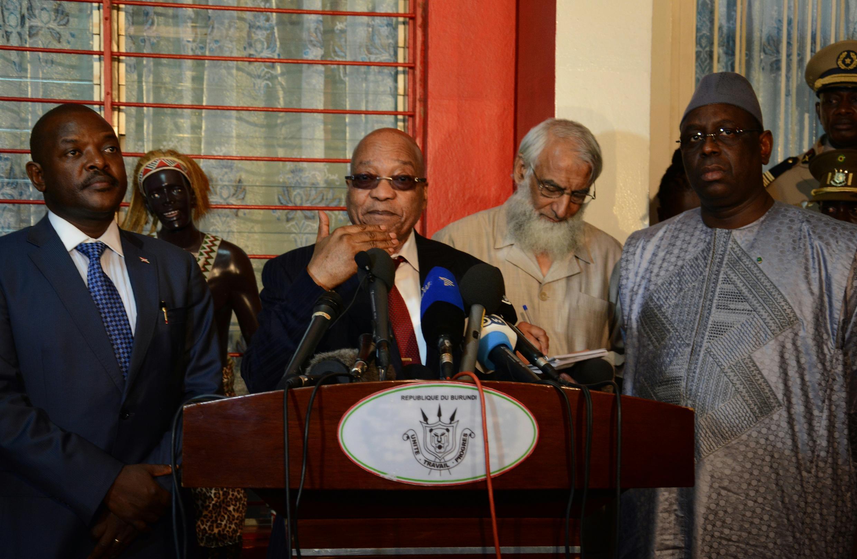Le président Jacob Zuma, à l'issue de la rencontre entre la délégation de l'UA et le président burundais Pierre Nkurunziza, a annoncé que les résultats de cette réunion serait divulgué samedi 27 février 2016.