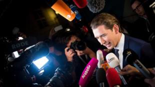 Le conservateur Sebastian Kurz, le 15 octobre 2017, jour de sa victoire aux législatives autrichiennes.