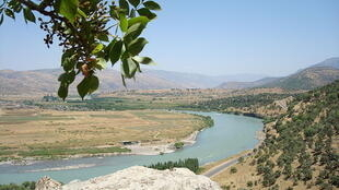 Zê river in Zebari region, Iraqi Kurdistan