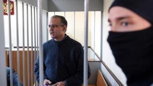 Paul Whelan, el exmarine estadounidense acusado de espionaje, comparece ante un tribunal de Moscú el 23 de agosto de 2019