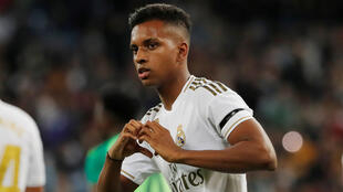 Le footballeur Rodrygo (Real Madrid) après son but contre Leganés, le 30 octobre 2019.