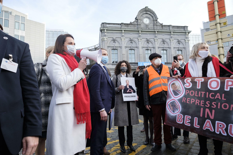 Manifestation biélorussie pologne journalistes
