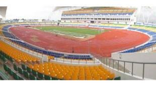 Le Stade de l'Amitié à Angondjè.
