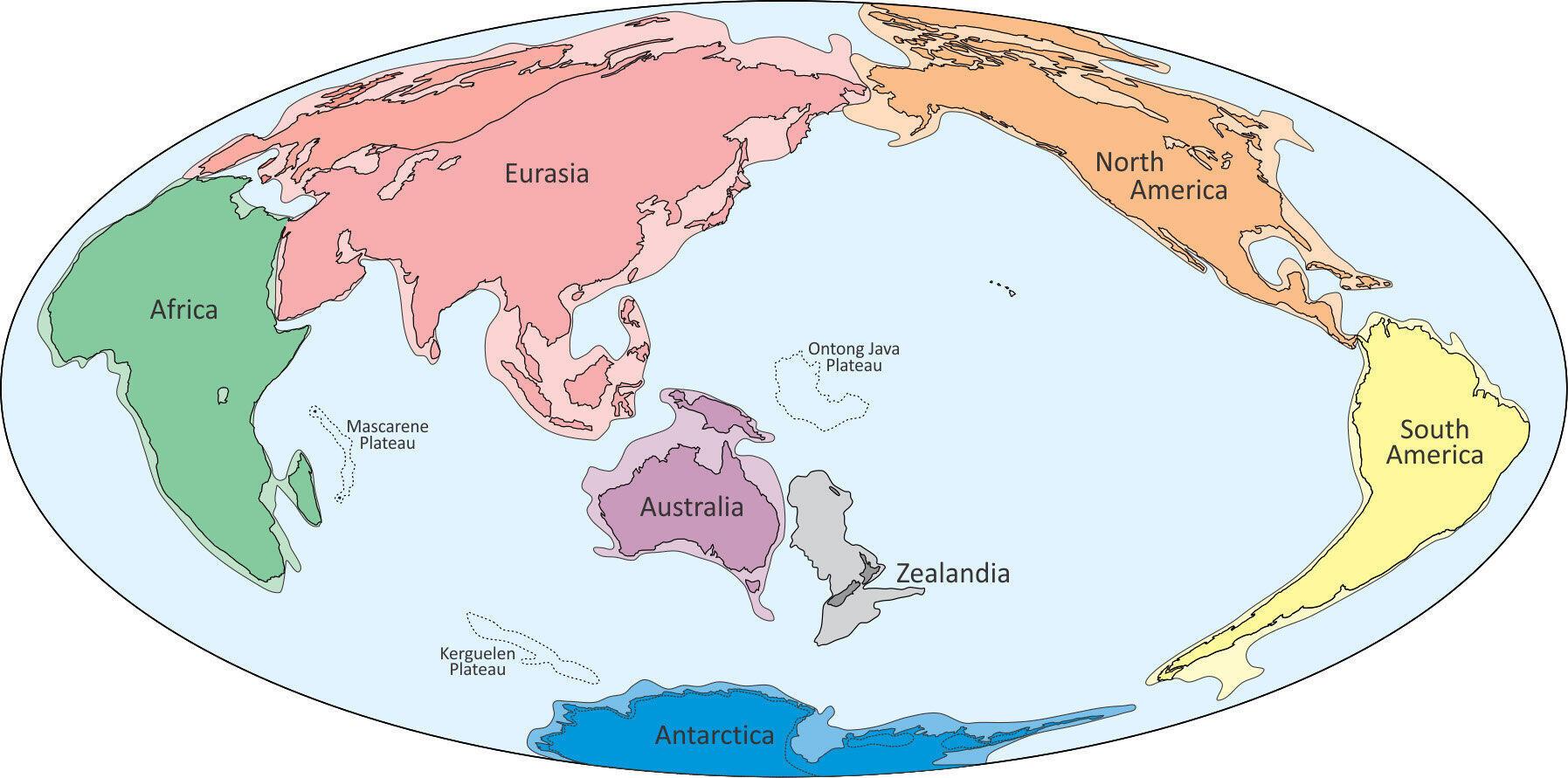 Zealandia trên bản đồ .