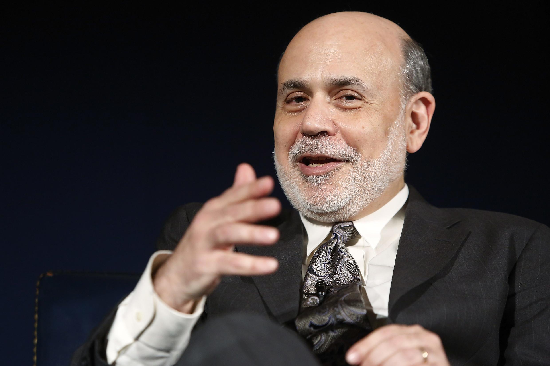 O presidente do Federal Reserve (Banco Central dos EUA), Ben Bernanke.